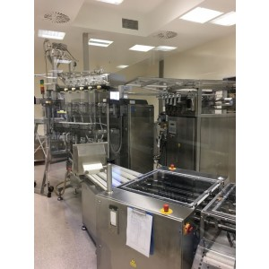 Complete packing line for liquid/gel products in sticks