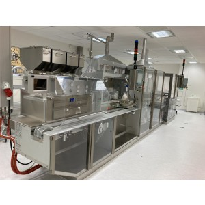 Marchesini MB 422 blister machine suitable for tablets, capsules, etc. in PVC-PVDC/ALU, PVC-PE-PVDC/ALU, ACLAR/ALU and cold forming for ALU/ALU blister