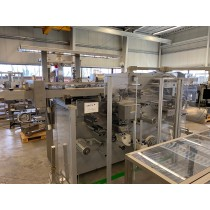 Romaco Siebler HM1E/160 + Marchesini MA80 packing line for effervescent tablets in strips