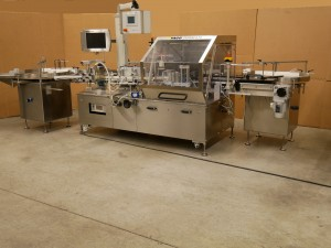 Pago System 610 PHARMA self-adhesive labelling machine for bottles, etc. with PAGOmat 6/2 R-75 100