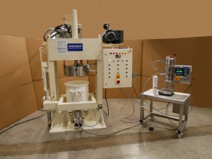 Mettler-Toledo dosing station for highly viscous products including weighing platform PBA655 and weighing terminal IND570